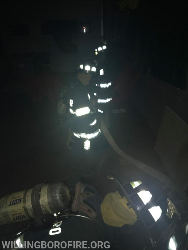 Hoseline movement in the dark during a simulated incident